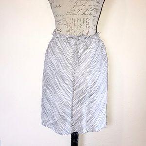 MERONA   Striped Chevron Ruffled Drawstring Skirt